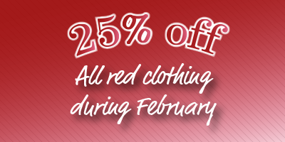25% off red clothing