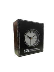 Leatherette Mvcc Clock