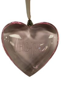 Courage Heart Ornament