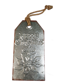 Xmas Iron Tag Sign