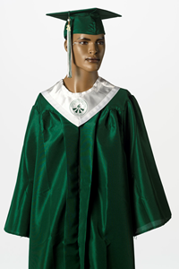 Graduation Cap and Gown with Stole